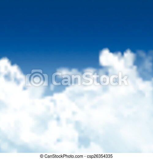 kék, 0307, ég, háttér - csp26354335