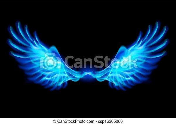 kék, elbocsát, wings. - csp16365060