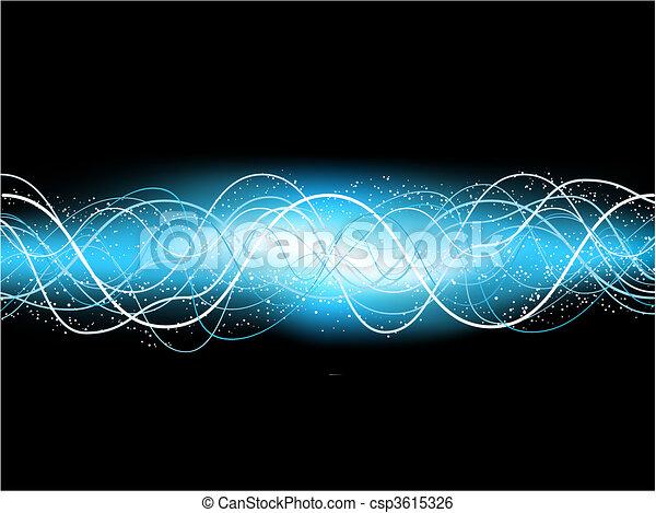kék, elektromos, háttér - csp3615326