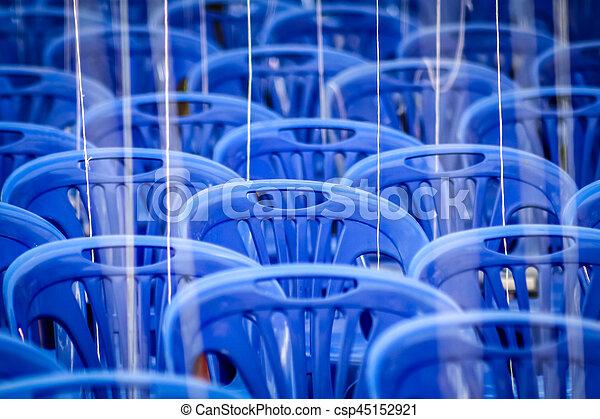 kék, elnökké választ, üres, műanyag - csp45152921