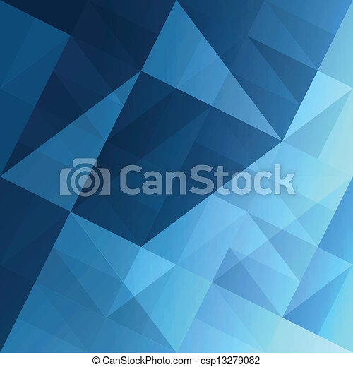 kék, eps10, elvont, háttér., vektor, háromszögek - csp13279082