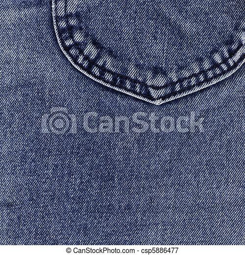 kék, farmeranyag - csp5886477