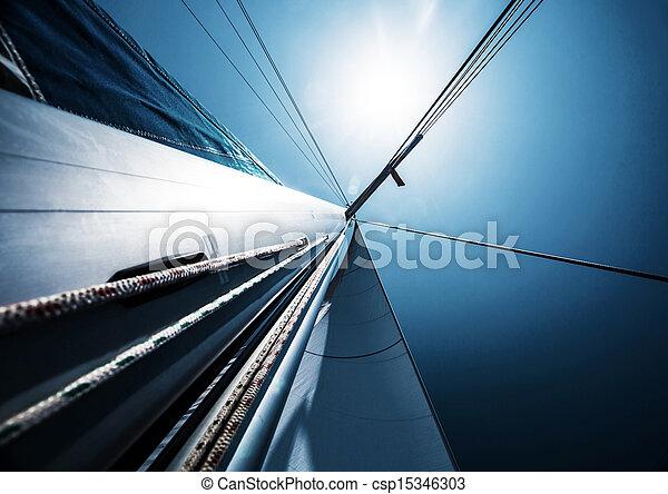 kék, felett, vitorlázik, ég, világos - csp15346303