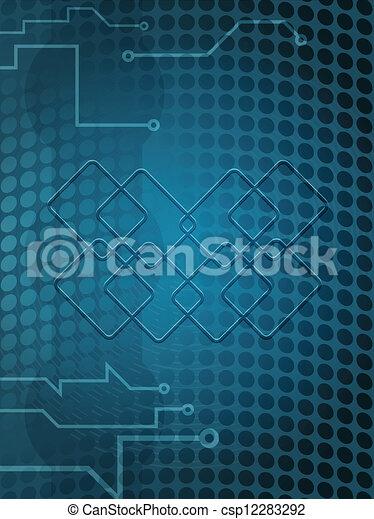 kék, háttér., elektromos - csp12283292