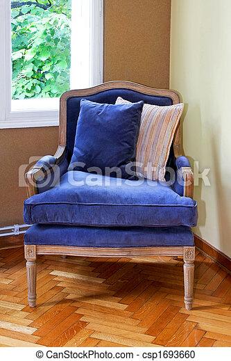 kék, karosszék - csp1693660