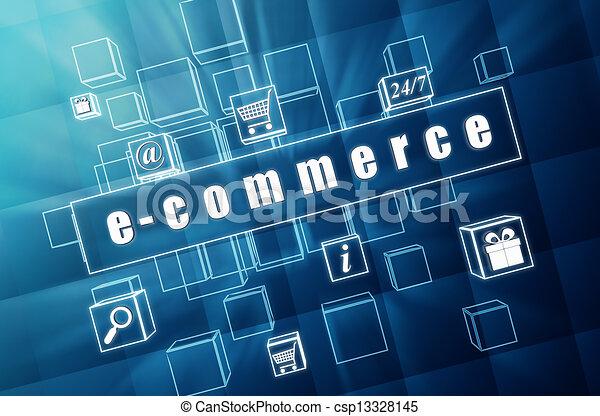 kék, kikövez, ügy, e-commerce, pohár, cégtábla - csp13328145