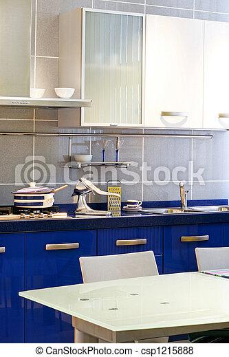 kék, konyha, függőleges - csp1215888