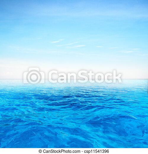kék, mély tenger - csp11541396
