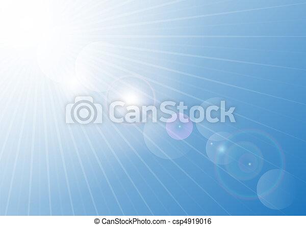 kék, nyár, ég - csp4919016