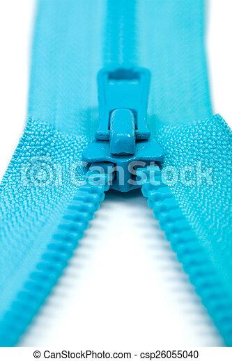 kék, nyílik, cipzár, fél - csp26055040