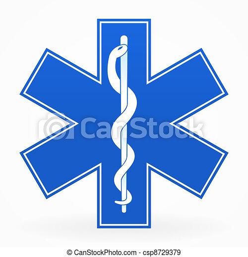 kék, orvosi cégtábla - csp8729379