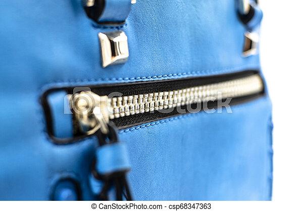 kék, táska, cipzár - csp68347363