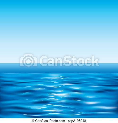 kék, tiszta égbolt, tenger - csp2195918