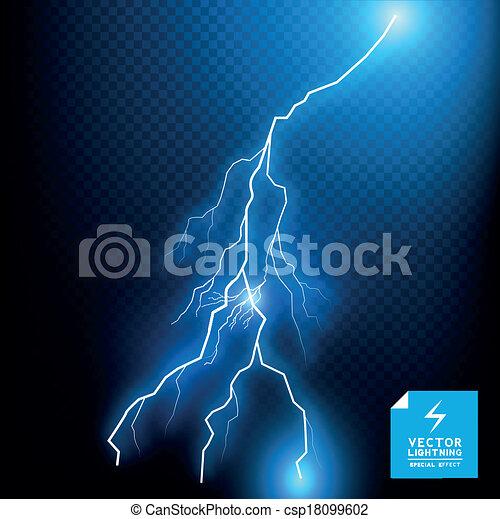 kék, vektor, csavar, villámlás - csp18099602