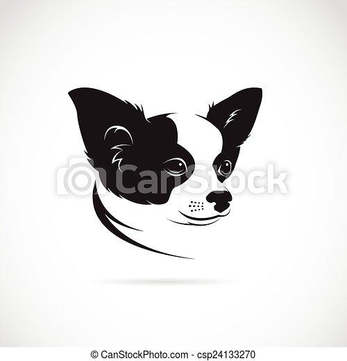 , kép, kutya, vektor, háttér, fehér - csp24133270