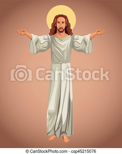 kép, vallásos, krisztus, jézus - csp45215076