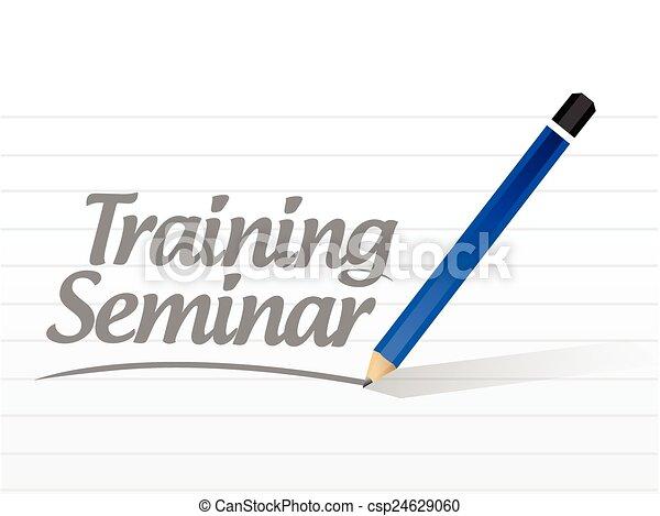képzés, üzenet, szeminárium - csp24629060