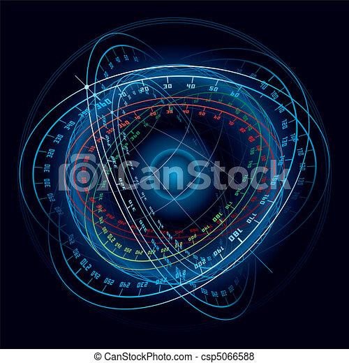 képzelet, sphere., navigáció, hely - csp5066588