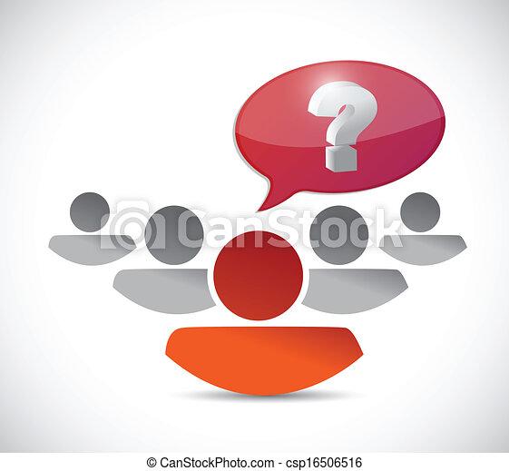 kérdez, tervezés, ábra, emberek - csp16506516
