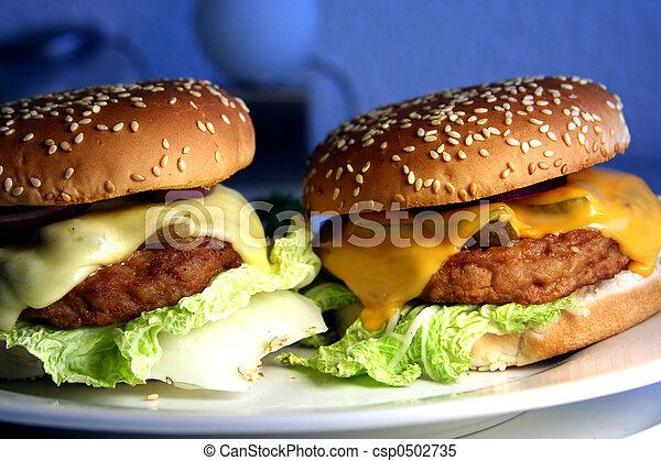 két, cheeseburgers - csp0502735
