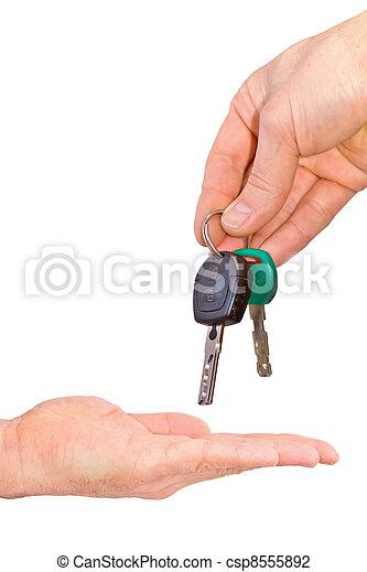 kézbesít, kulcs - csp8555892