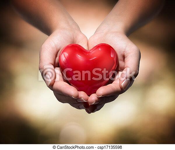 kézbesít, szív - csp17135598