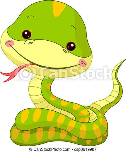 kígyó, móka, zoo. - csp8619987