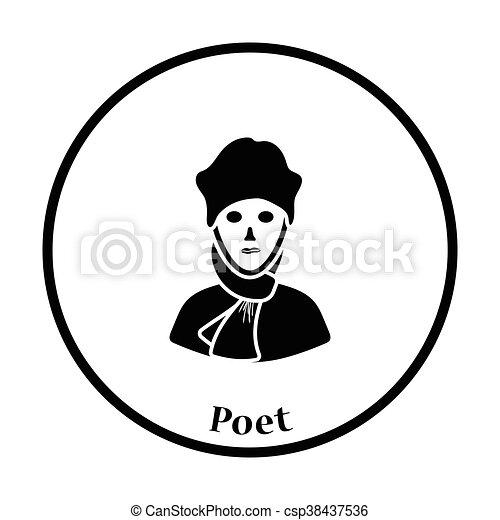 költő, ikon - csp38437536