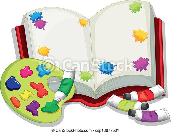 könyv, üres - csp13877501
