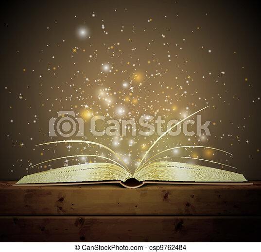 könyv, varázslatos - csp9762484