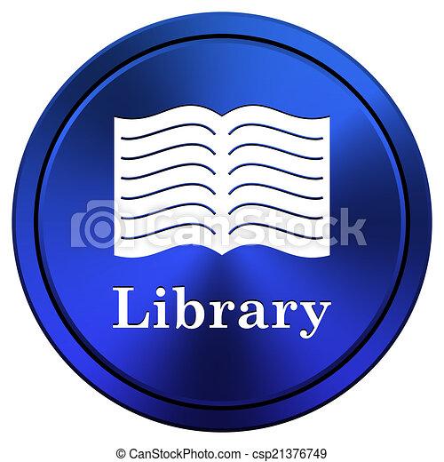 könyvtár, ikon - csp21376749