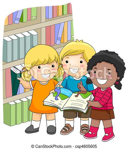 könyvtár - csp4605605