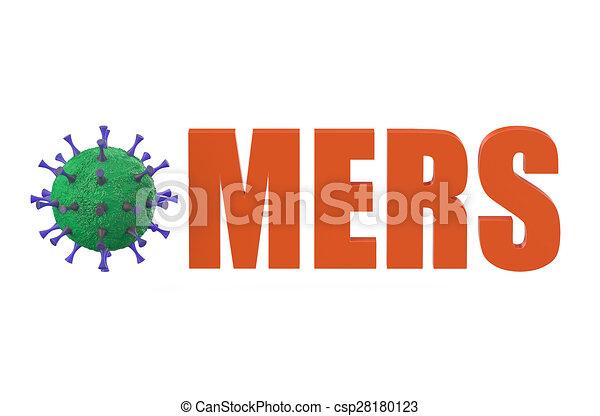 középső, légzési, mers, szindróma, kelet - csp28180123