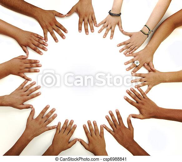 középső, másol világűr, gyártás, háttér, fogalmi, fehér, sok nemzetiségű, gyerekek, jelkép, karika, kézbesít - csp6988841