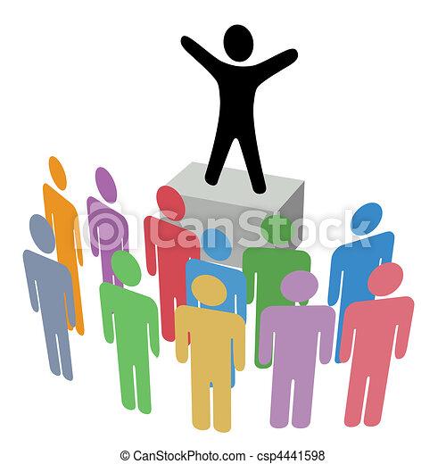 közlemény, soapbox, csoport, kampány, kommunikáció - csp4441598