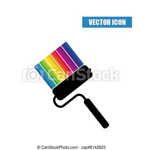 különböző, leszed, festék, befest, hajcsavaró, ikon - csp48142623