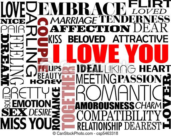 különféle, szeret, szavak - csp5463318
