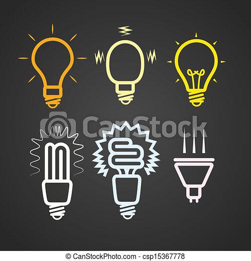 küllők, szín, fény, gyűjtés, körvonal, lámpa - csp15367778