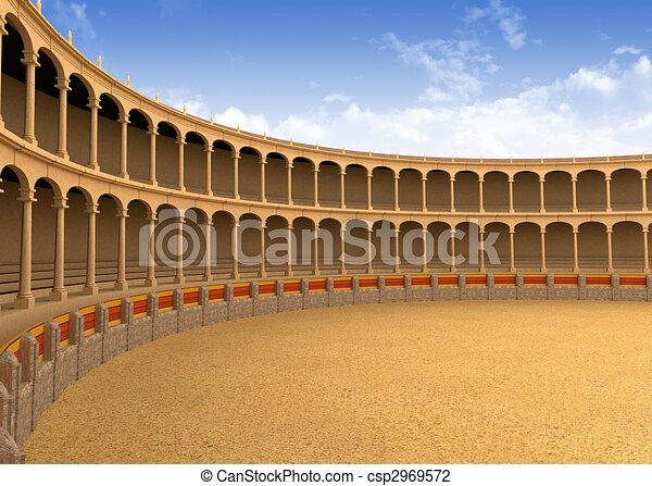 küzdőtér, amfiteátrum, ősi - csp2969572