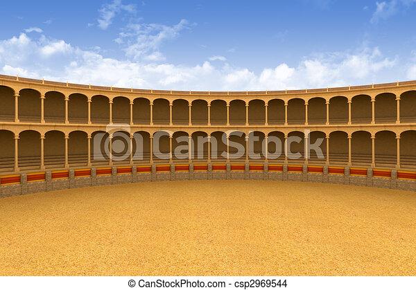 küzdőtér, amfiteátrum, ősi - csp2969544