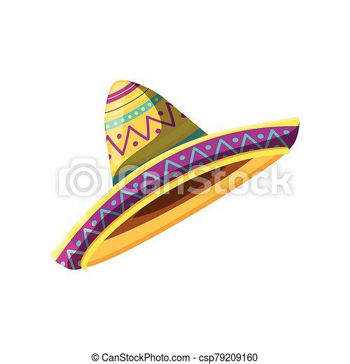 kalap, fehér, mexikói, háttér - csp79209160