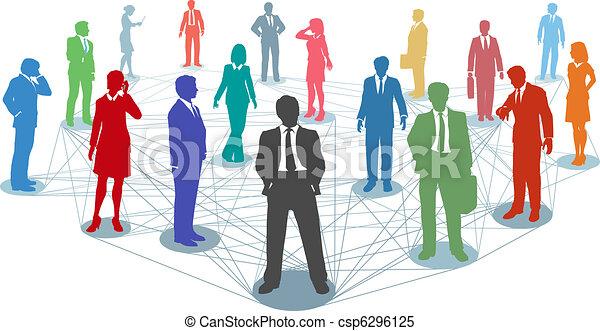 kapcsolatok, emberek, hálózat, ügy, összekapcsol - csp6296125