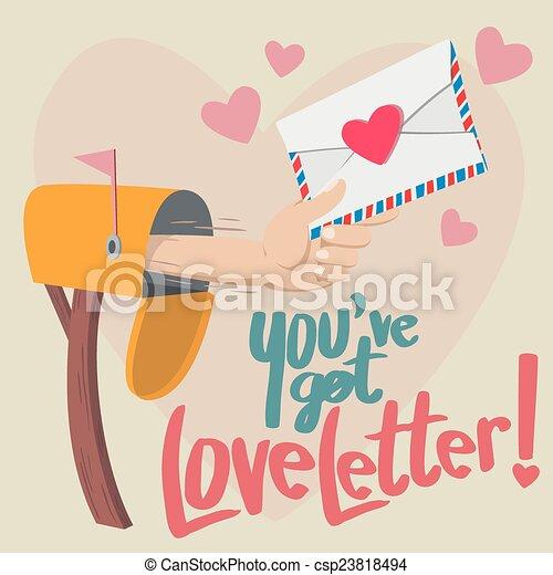 kapott, ön, szeret, bír, letter! - csp23818494