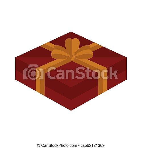 karácsony, elszigetelt, ajándék, ikon - csp62121369