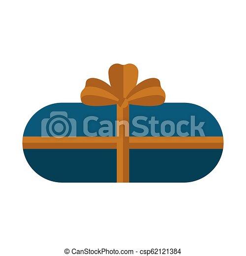 karácsony, elszigetelt, ajándék, ikon - csp62121384