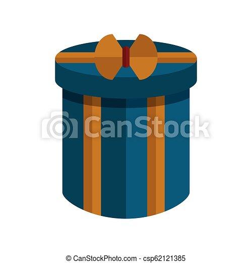 karácsony, elszigetelt, ajándék, ikon - csp62121385