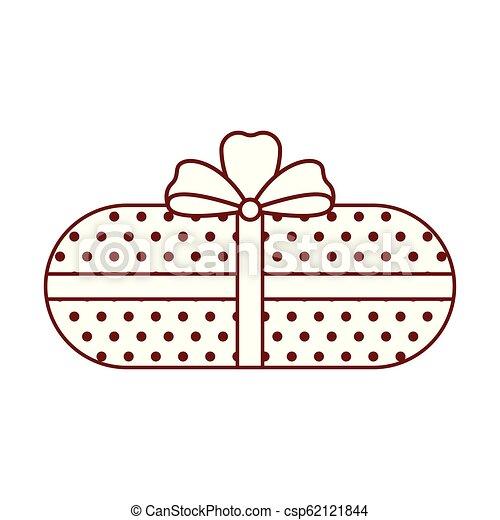 karácsony, elszigetelt, ajándék, ikon - csp62121844