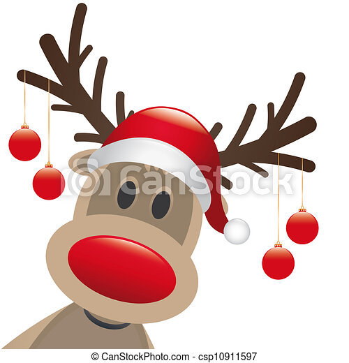 karácsony, orr, herék, piros - csp10911597