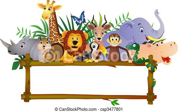 karikatúra, állat - csp3477801