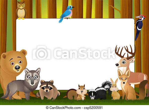 karikatúra, állat - csp5200591